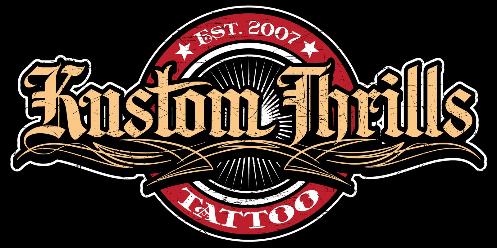 kustom thrills tattoo shop logo