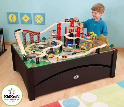 The Kidkraft Metropolis train table and set is a great choice for little boys. With its winding tracks and small cars and other toys to play with ...  sc 1 st  Model Train Enthusiast & Model Train Enthusiast: 2 Great Train Tables for Small Children