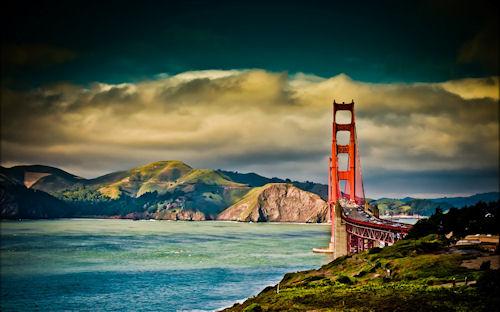 Puente en San Francisco en HDR - Brigde (1920x1200)
