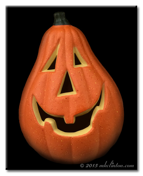 Funny shaped Jack O Lantern