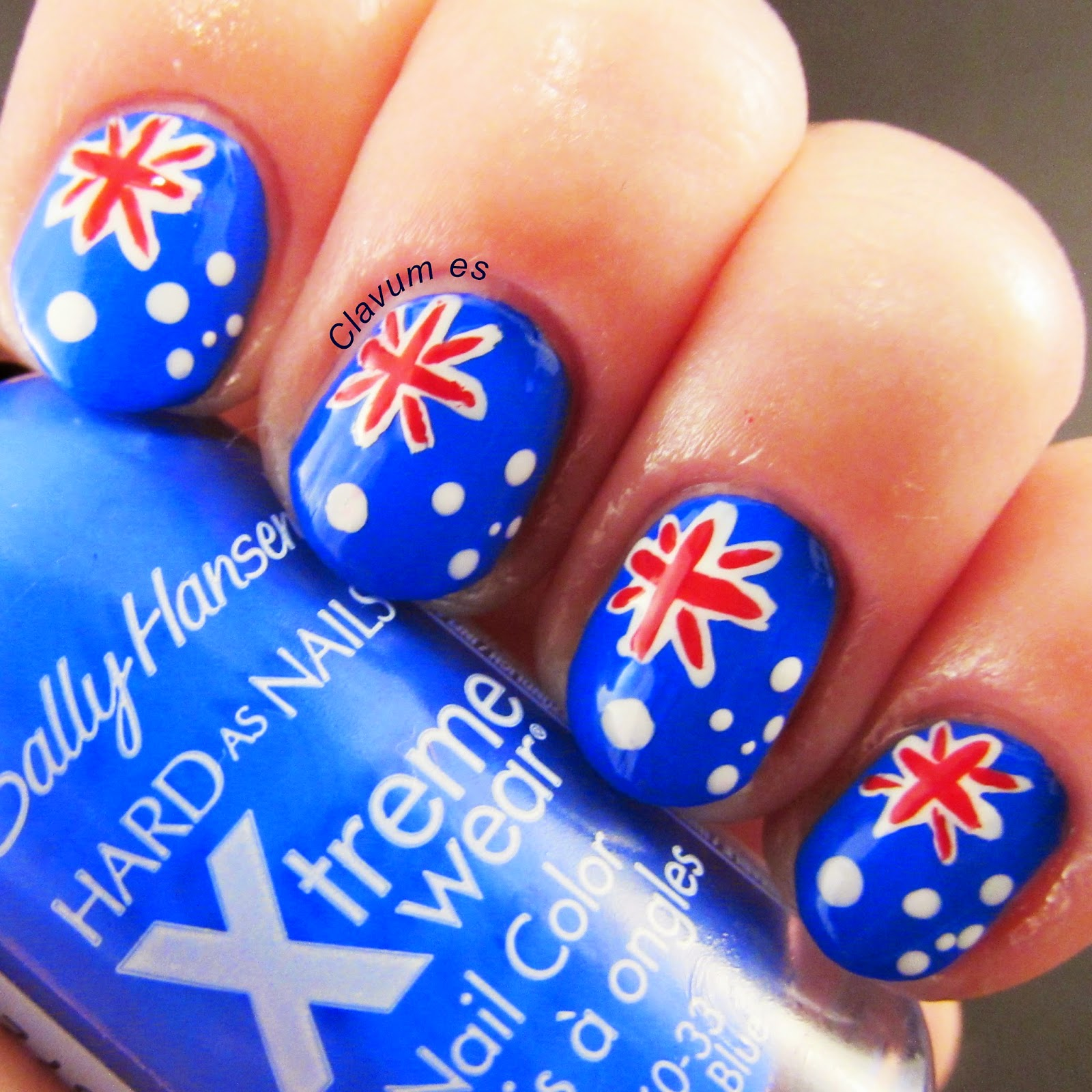 Australian Flag Nail Art