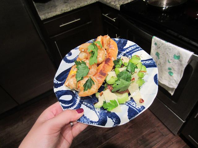 Blue Apron Sautéed Shrimp Sandwiches