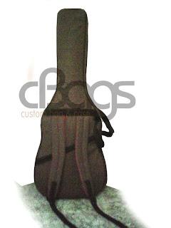 Tas Gitar listrik sekaligus efek model ransel punggung