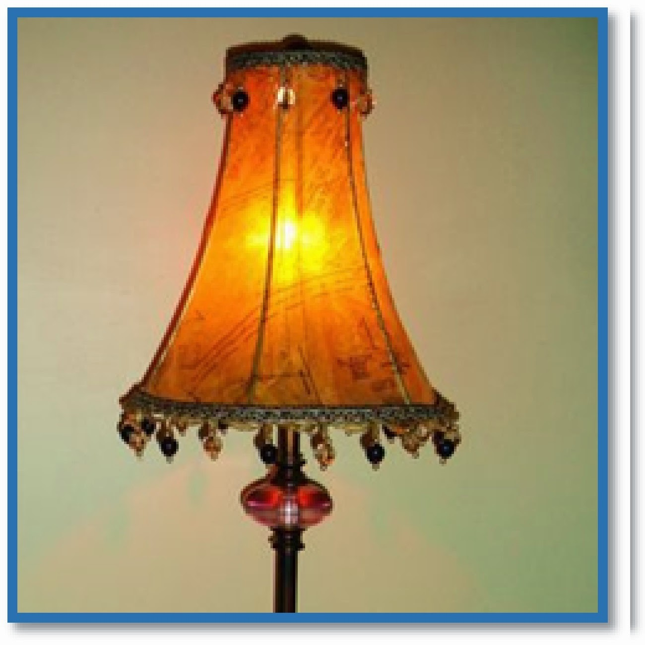 sewing pattern lamp shade