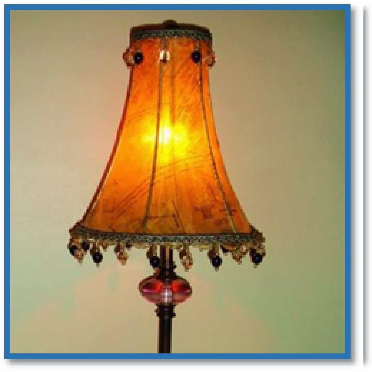 sewing pattern lamp shade