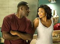 Gabrielle Union flirting with Idris Alba