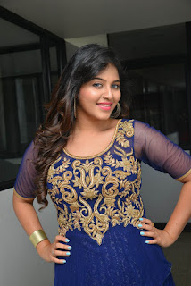 Actress Anjali Latest Pictures in Blue Long Dress at s Dictator Movie Launch Event  023.jpg
