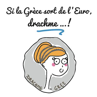 grèce, euro, drachme, sortir de la dette grecque, sortir de l'euro, vers le grexit