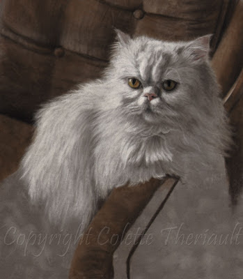cat portrait in pastel by Colette Theriault