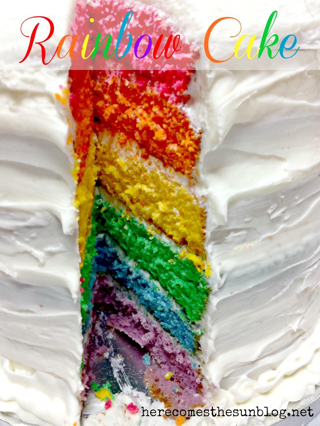 Rainbow Cake Tutorial Here Comes The Sun