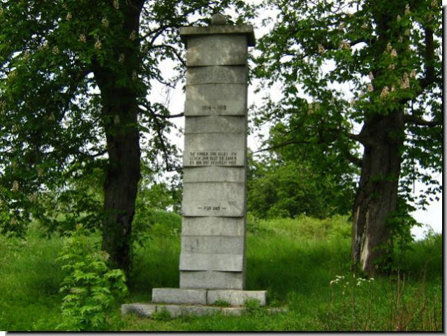 Surviving German monument pillar