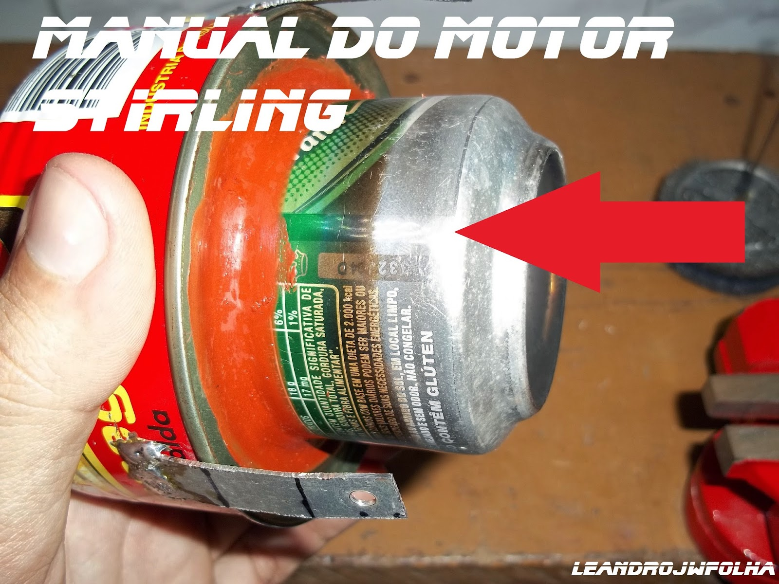 Manual do motor Stirling, cilindro quente