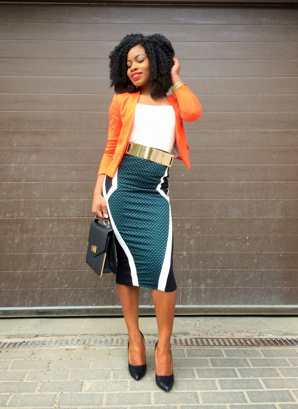 bucandy s fashion blazer and pencil skirt