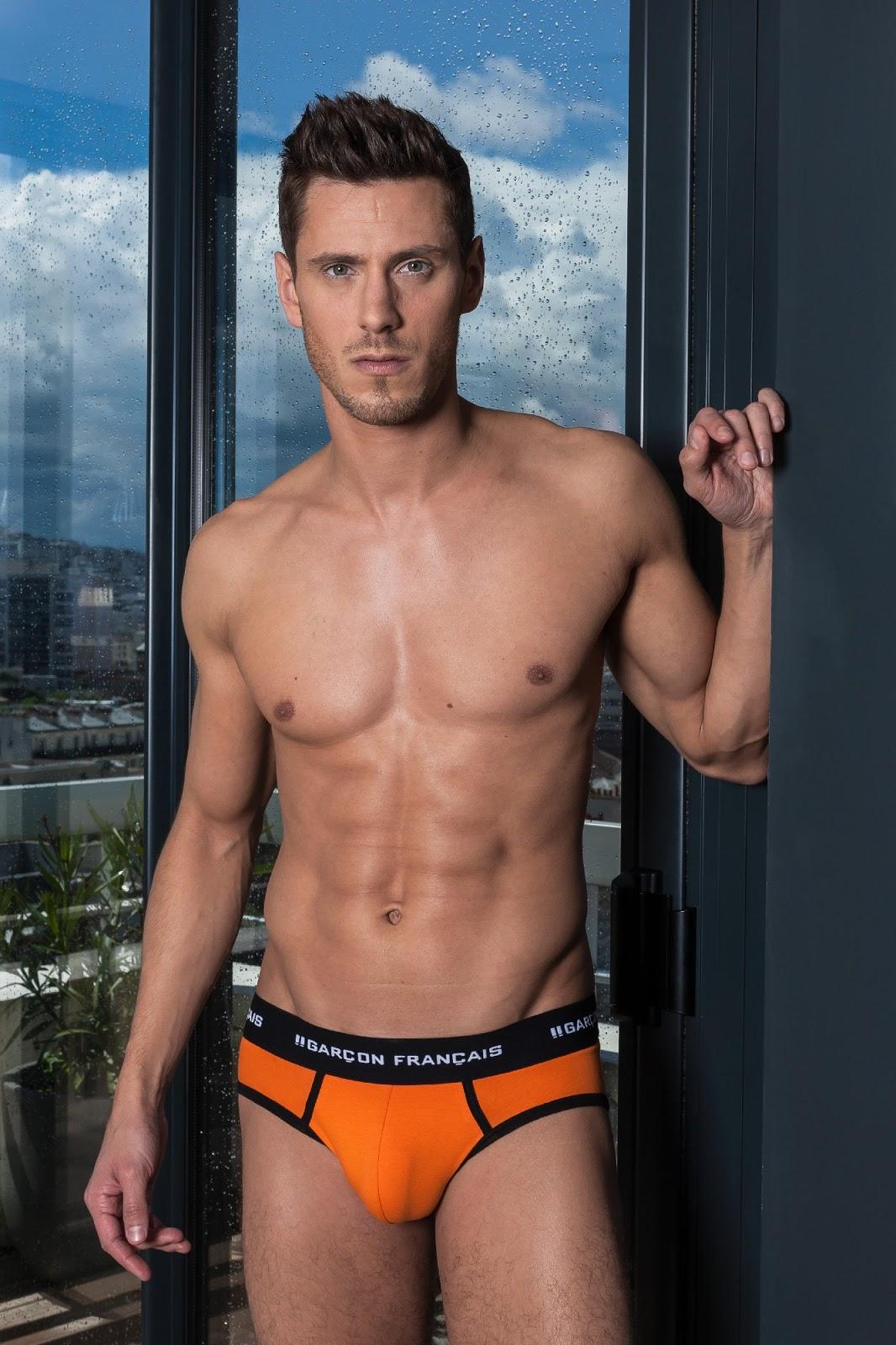 Garcon Francais underwear - orange briefs
