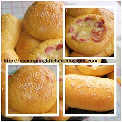 Vivian Pang Kitchen: Carrot Buns/ Straight Dough Method ...