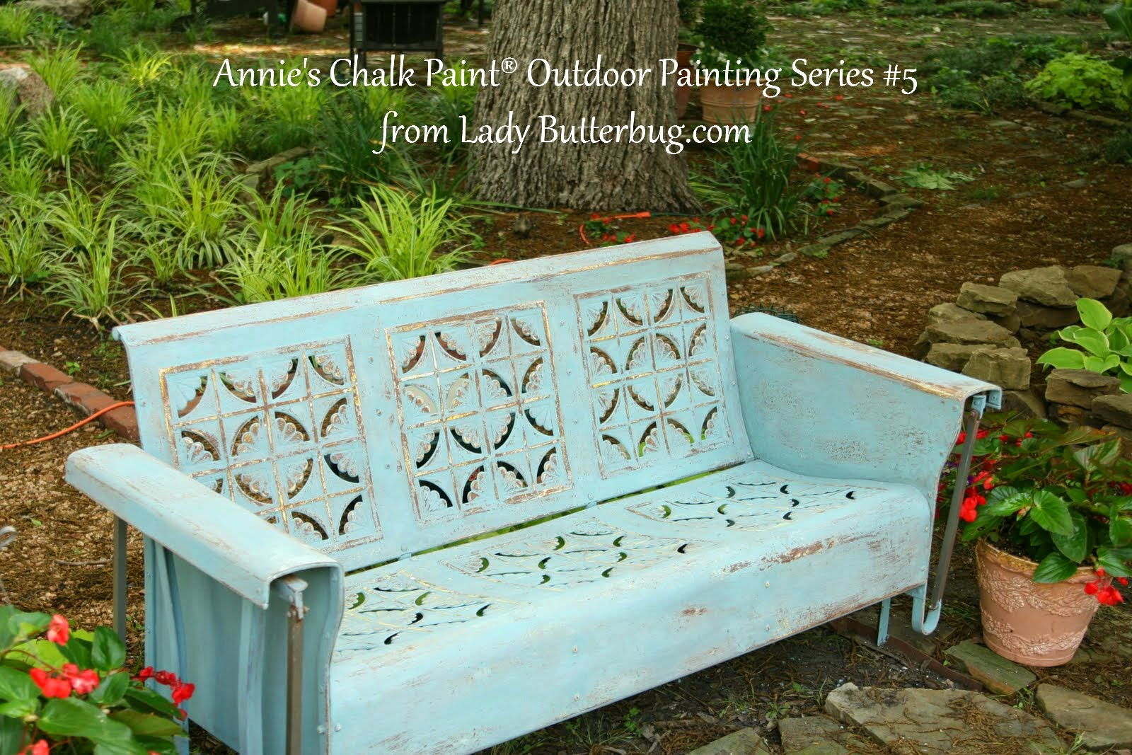 Annie Sloan Chalk Paint Garden Bench