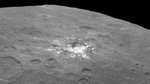 Detectan  nubes en un cráter de Ceres