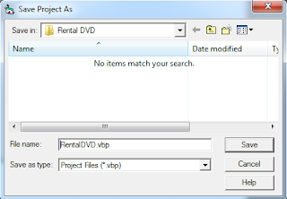 Membuat Project Baru Aplikasi Rental DVD VB 6.0