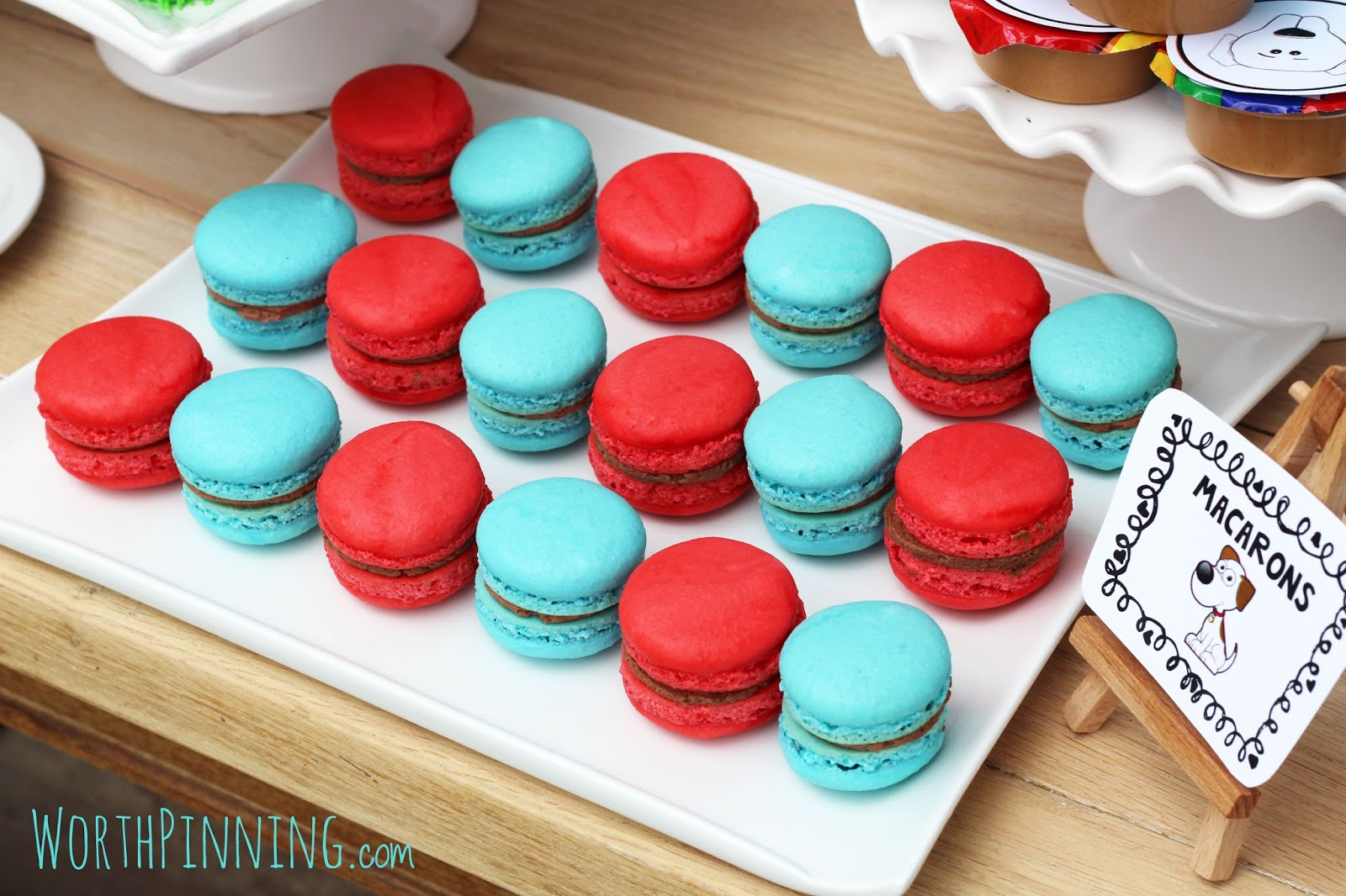 worth pinning red u0026 blue french macarons with nutella filling