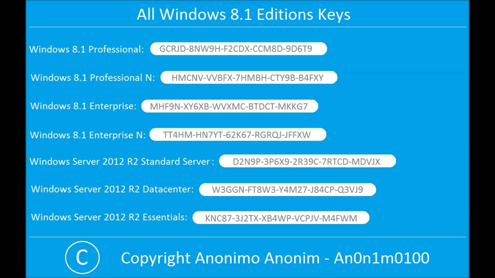 activation key windows 8
