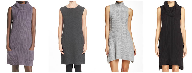 One of these sleeveless sweater dresses is from Lafayette 148 New York for $598 and the other thee are under $75. Can you guess which one is the more expensive dress? Click the links below to see if you are correct!