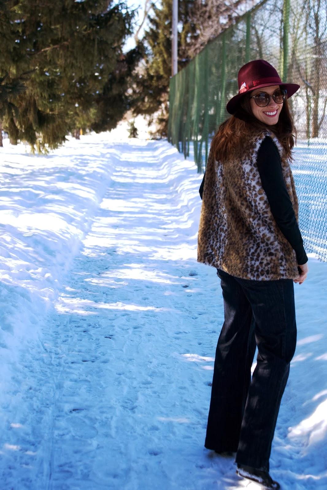 faux fur, leopard, panama hat, fedora