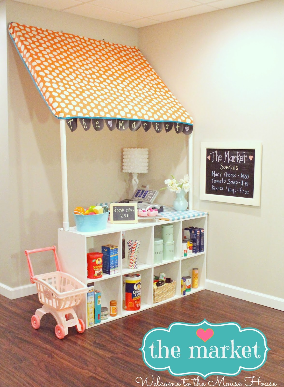 the market grocery store for kids with pvc. Black Bedroom Furniture Sets. Home Design Ideas