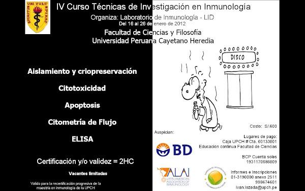 IV CURSO TECNICAS DE INVESTIGACION EN INMUNOLOGIA