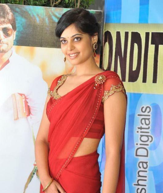 Nude Tollywood Pics: Bindu Madhavi hot red saree photos