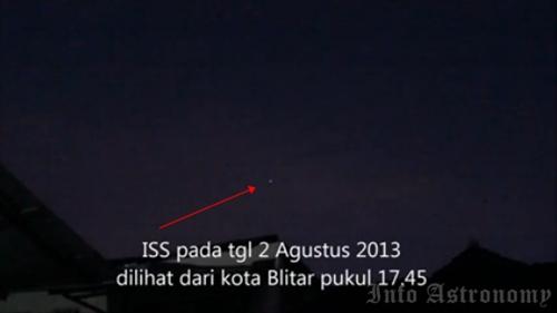 Video: Melintasnya ISS di Langit Blitar, Jawa Timur
