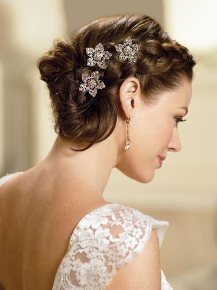 peinados con trenzas para bodas bautizos y comuniones peinados para boda con trenzas with peinados boda pelo corto
