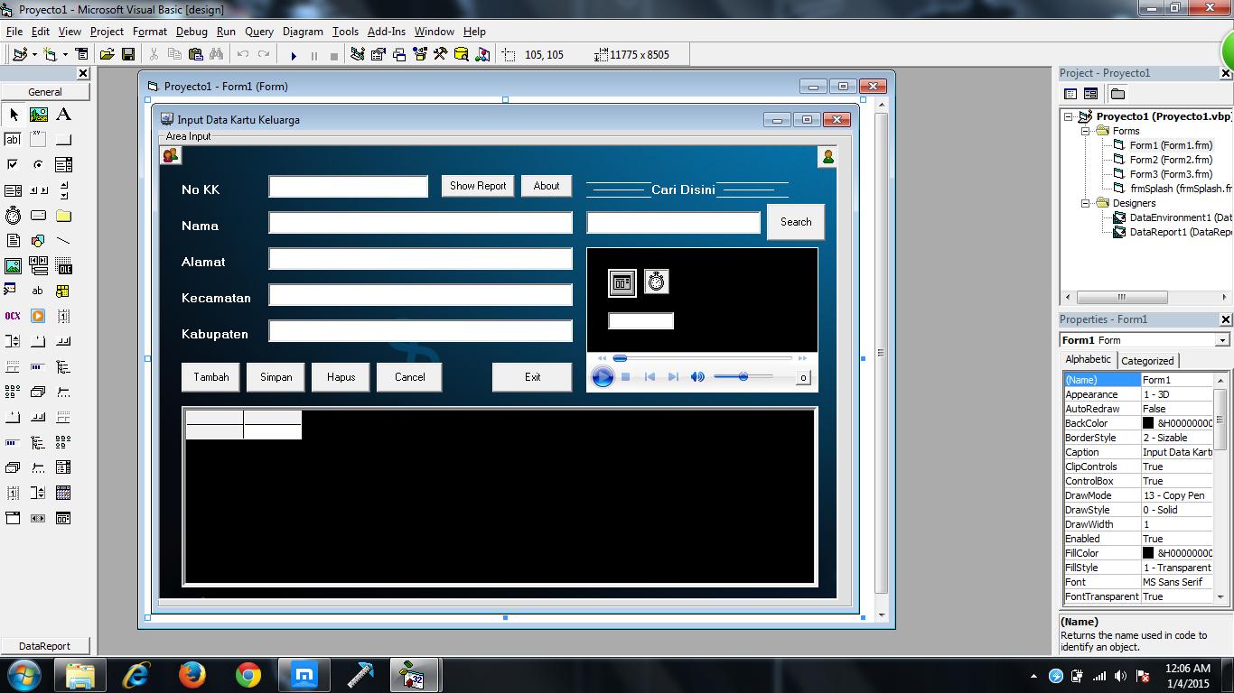 Cara design Form keren dengan VB6