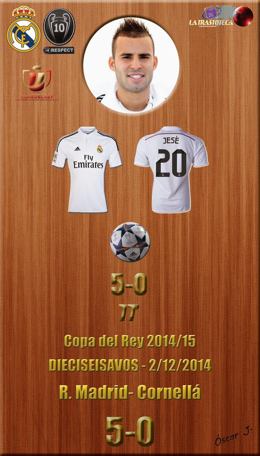 Jesé (5-0) - Real Madrid 5-0 Cornellá - Copa del Rey 2014/15 - Dieciseisavos - (2/12/2014)