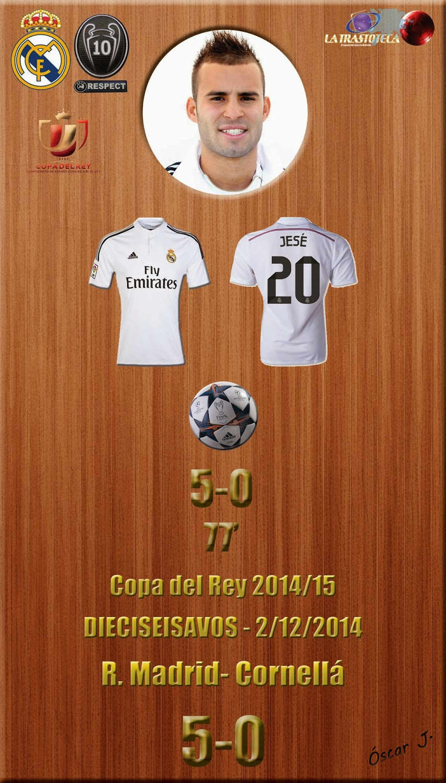 Real madrid 5 0 cornell copa del rey 2014 15 for Correos cornella