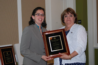 Dr. Gray receiving the Pennsylvania Young Optometrist of the Year Award