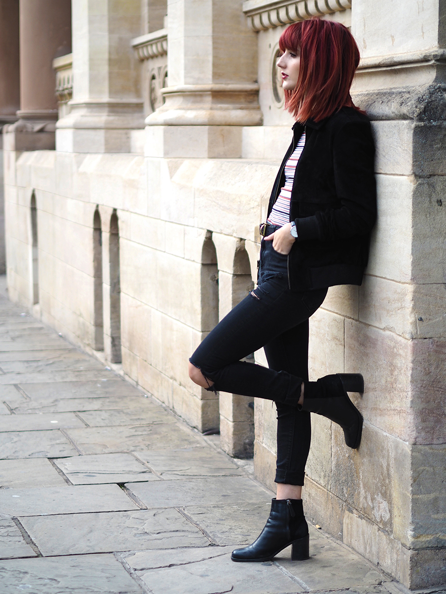 Urban Outfitters Bomber Jacket styled by fashion blogger Wonderful You