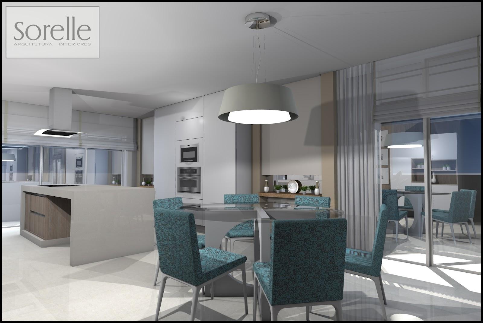Sorelle Arquitetura e Interiores: Cozinha e Sala de Jantar . #434D5B 1600 1071