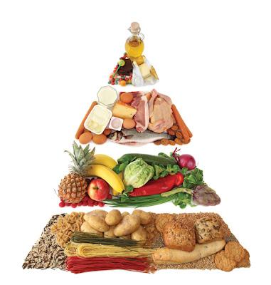 alimentos sanos verduras carnes y panes