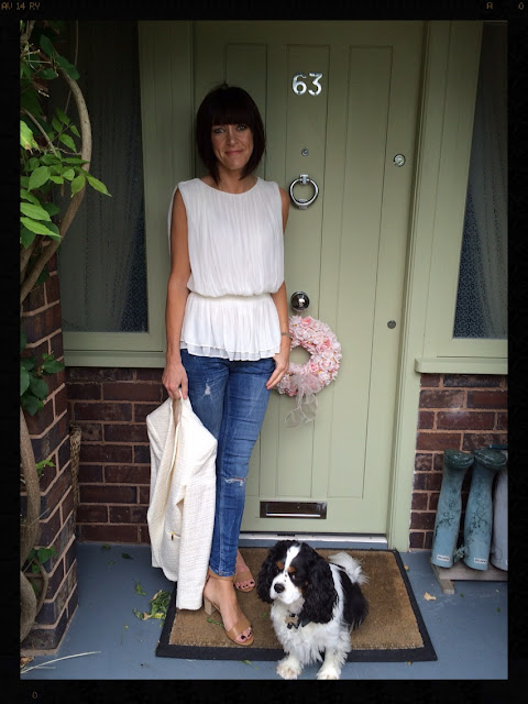 My Midlife Fashion, Chiffon Draped Top, Skinny Jeans, Zara, Mango, Next