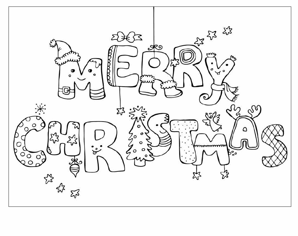 Soft image within printable coloring christmas cards