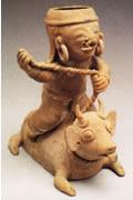 precolumbian bull rider