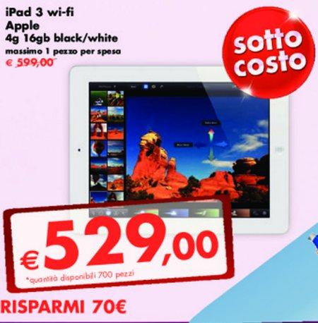 Prezzo sottocosto per il Tablet Nuovo iPad di Apple sul volantino Panorama