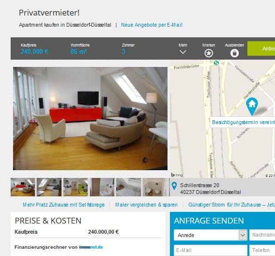 vorkassebetr ger im gehackten makler account auf immobilienscout24. Black Bedroom Furniture Sets. Home Design Ideas
