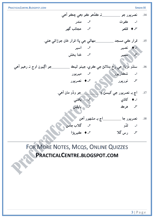 nasarpur-multiple-choice-questions-sindhi-notes-ix