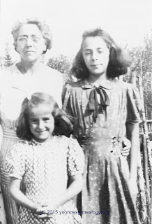 Julie Belair and her daughters Joan and Darlene