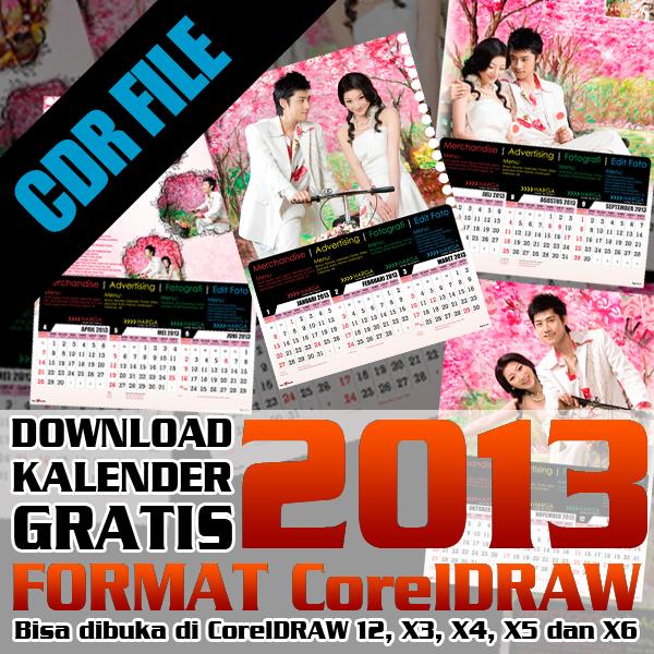 Download Kalender 2013 Format CorelDRAW 12, CorelDRAW X3, CorelDRAW X4 ...