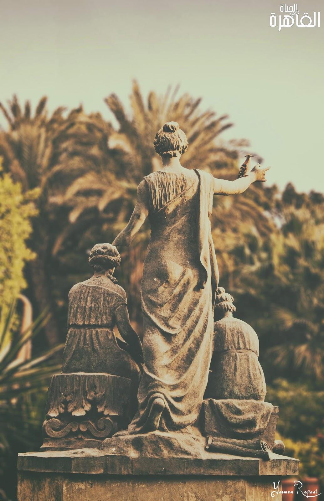 تمثال نهضة الفنون بساحة دار الأوبرا المصرية - الحياة في القاهرة