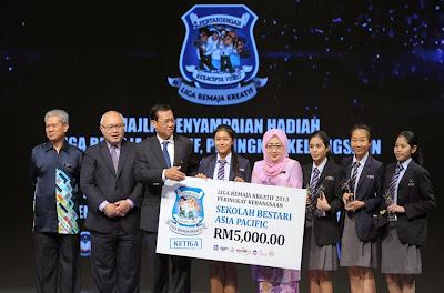 Sapura Smart School Ketiga Kebangsaan Liga Remaja Kreatif 2013