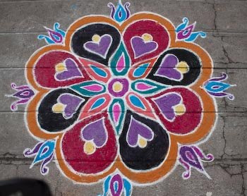Rangoli Designs for New Year, Pongal