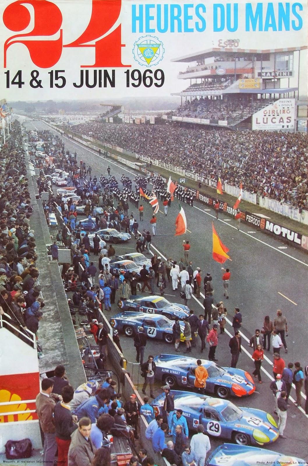 Affiche officielle des 24 Heures du Mans 1969